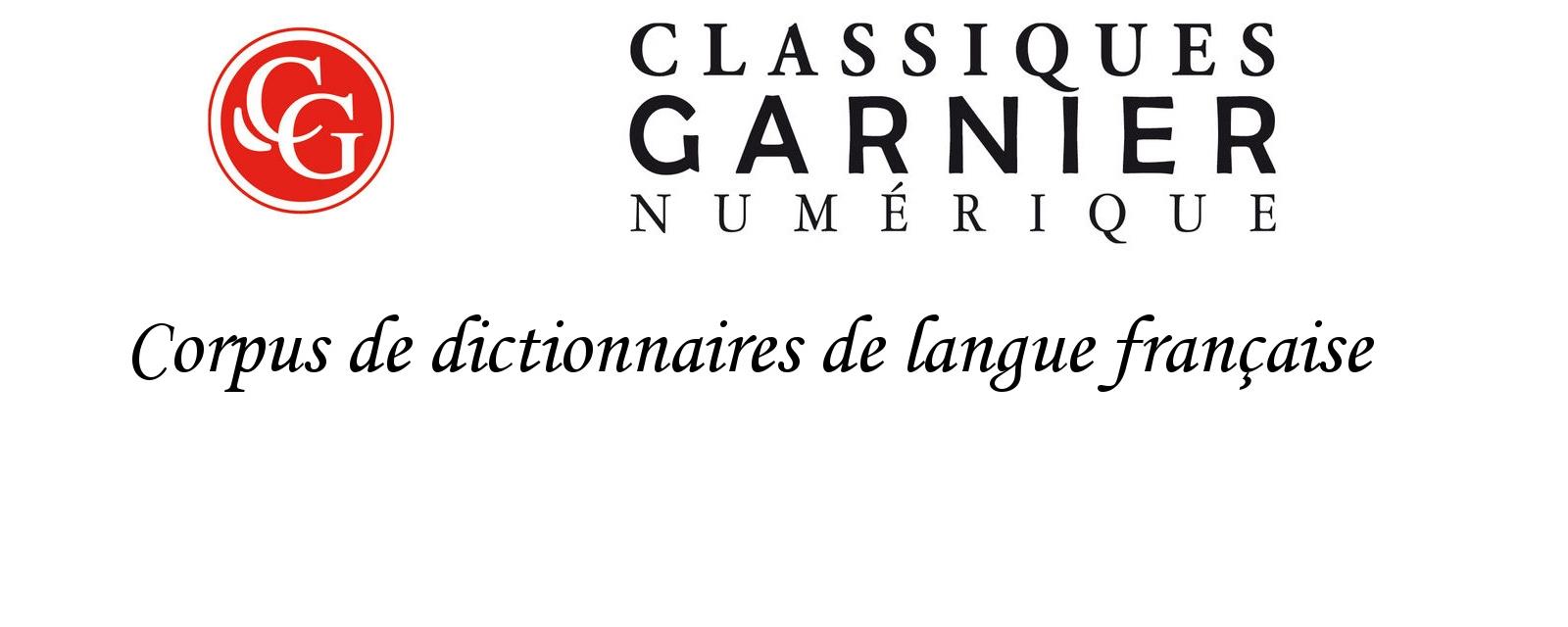 Corpus de dictionnaires de langue française