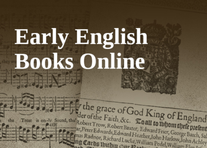 EEBO : Early English Books Online 1