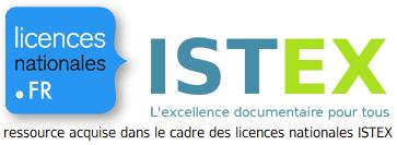 Ressource acquise dans le cadre des licences nationales ISTEX